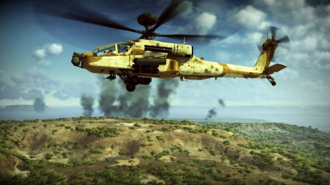 Simulation Apache – Air Assault: Helikopter ©Activision