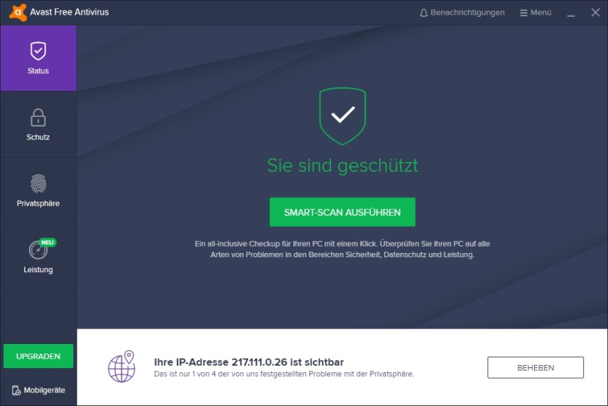 Screenshot 1 - Avast Internet Security