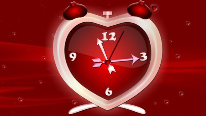 Platz 37: Heart Clock Screensaver © COMPUTER BILD