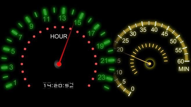 Speedmeter Clock ©COMPUTER BILD