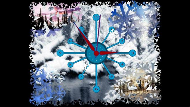 Winter Clock Screensaver ©Winter Clock Screensaver