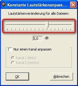 MP3Gain: Audio-Dateien konstant regeln