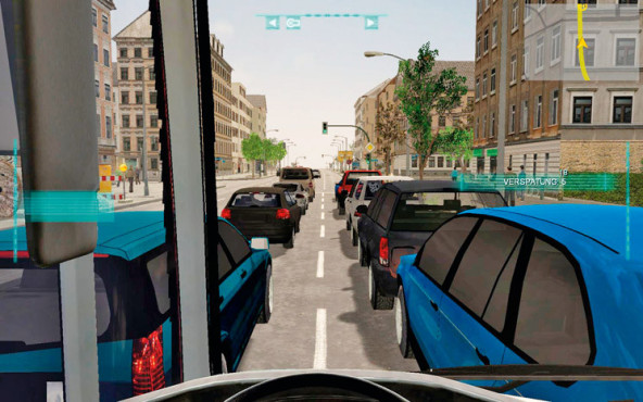 Bus-Simulator 2012: Stau © Astragon