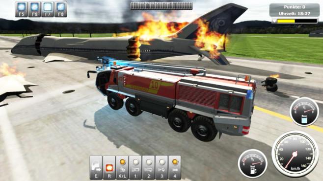 Flughafen-Feuerwehr-Simulator 2013 ©Rondomedia