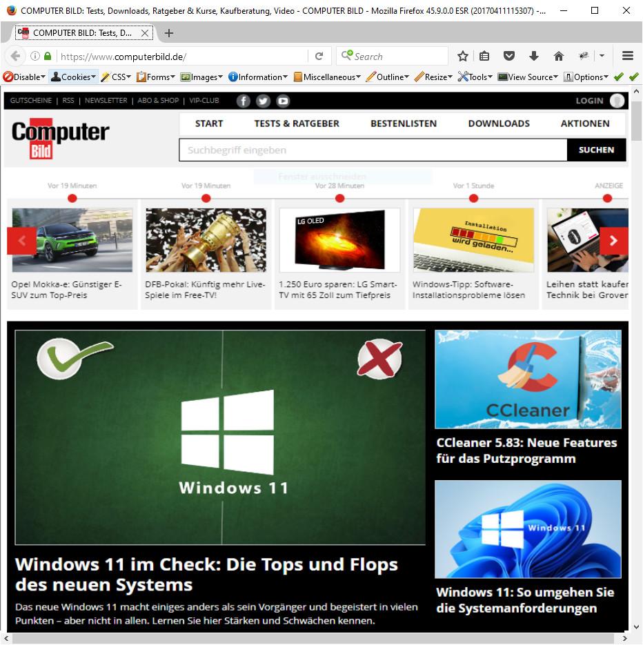 Screenshot 1 - Utilu Mozilla Firefox Collection