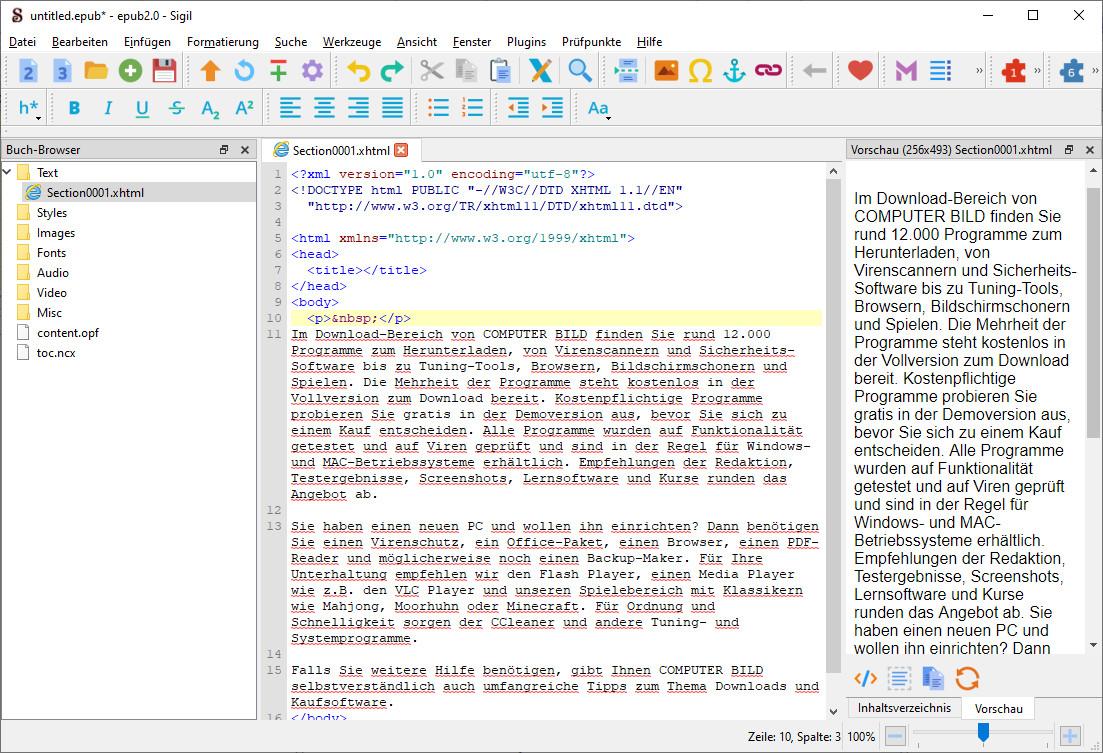 Screenshot 1 - Sigil