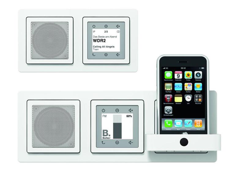 berker unterhaltung aus der wand audio video foto bild. Black Bedroom Furniture Sets. Home Design Ideas