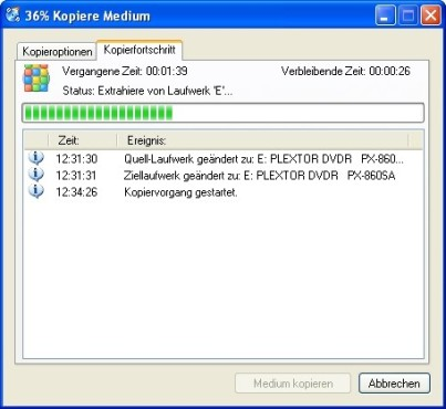 CDBurnerXP: Datenträger einlesen