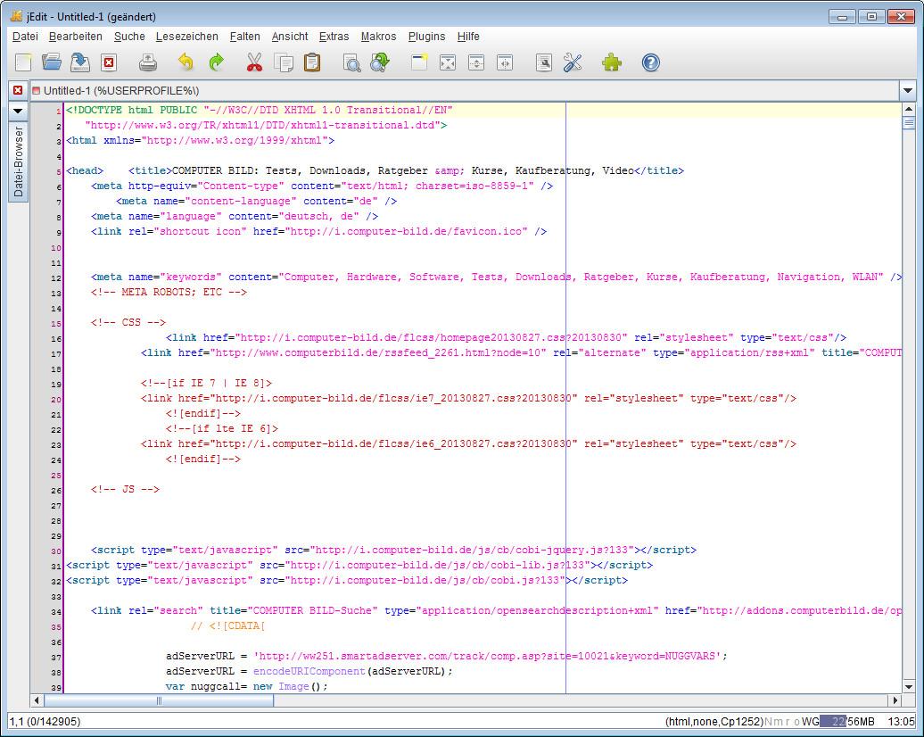 Screenshot 1 - jEdit