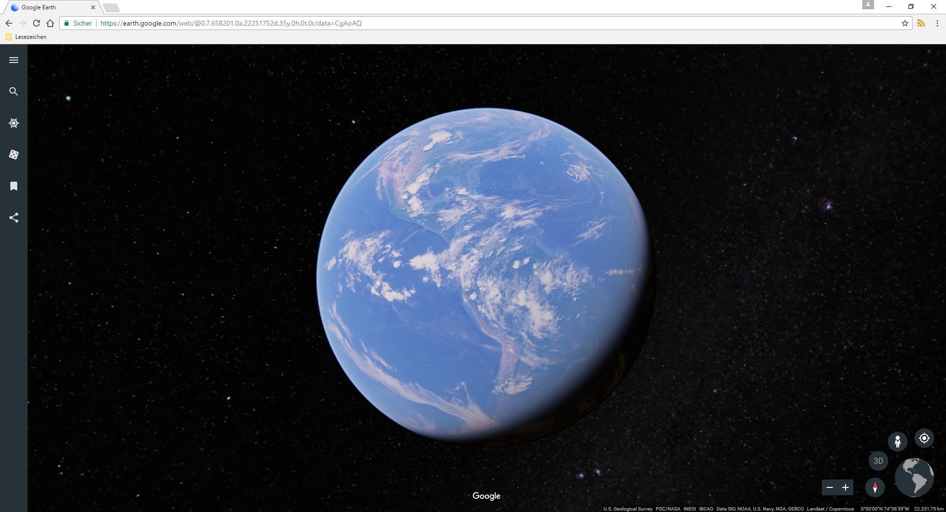 Screenshot 1 - Google Earth online