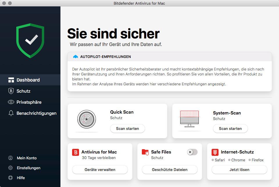 Screenshot 1 - Bitdefender Antivirus (Mac)