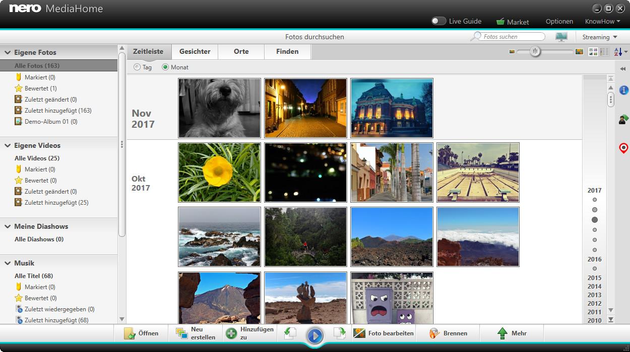 Screenshot 1 - Nero MediaHome Free