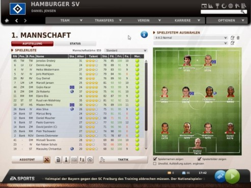 Komplettlösung Fußball Manager 11: Fitness ©Electronic Arts