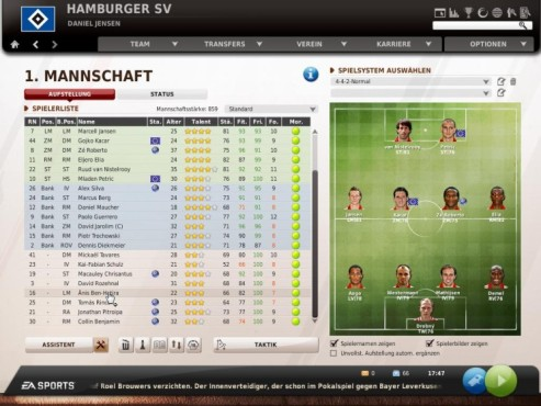 Komplettlösung Fußball Manager 11: Formation ©Electronic Arts