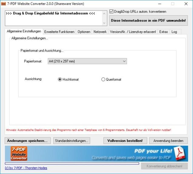 Screenshot 1 - 7-PDF Website Converter