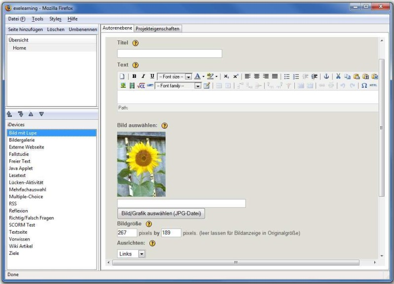 Screenshot 1 - eXeLearning