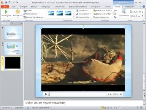 Office 2010: Video ausrichten
