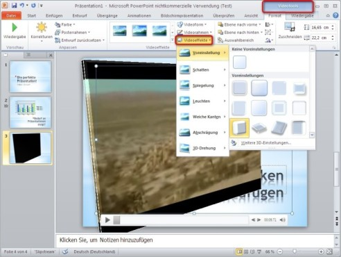 Office 2010: Video mit Effekten bearbeiten