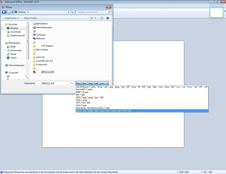 Screenshot 1 - RawReader