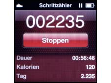 Schrittzählerfunktion iPod nano©COMPUTER BILD