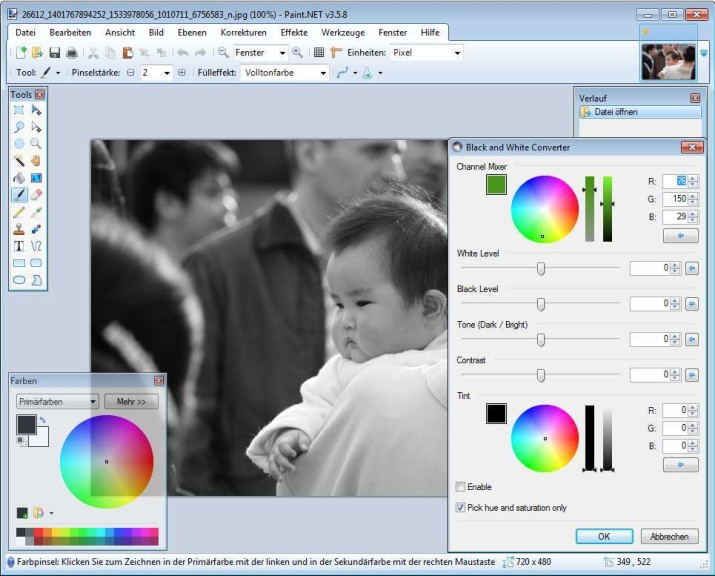 Screenshot 1 - Tanel's Photo and Color Plugins