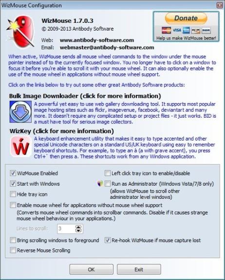 Screenshot 1 - WizMouse