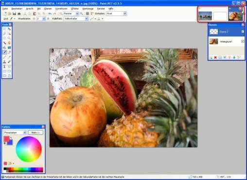 Paint.NET: Bilderliste nutzen