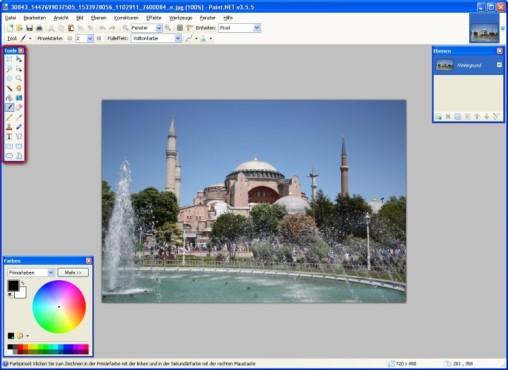 Paint.NET: Mauswerkzeuge verwenden