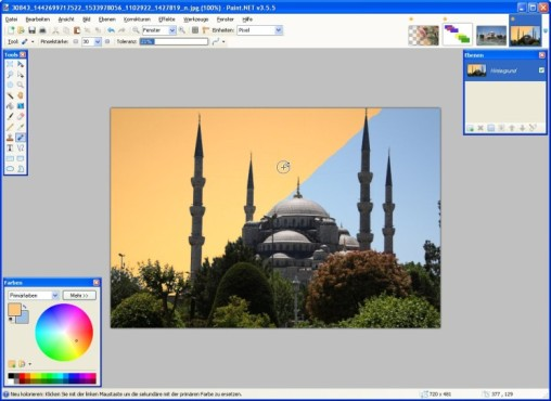 Paint.NET: Neue Farben zuordnen