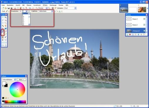 Paint.NET: Pinsel und Stift verwenden