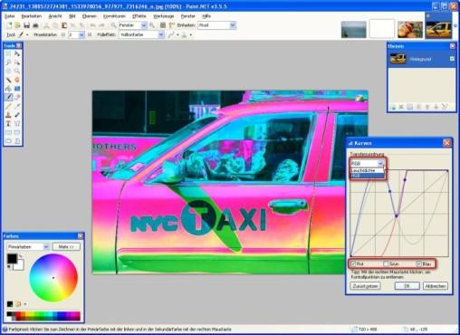 Paint.NET: Farbwerte einzeln verändern