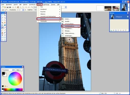 Paint.NET: Kachelspiegelung einfügen
