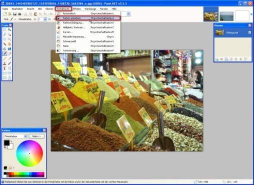 Paint.NET: Komplementärfarben nutzen