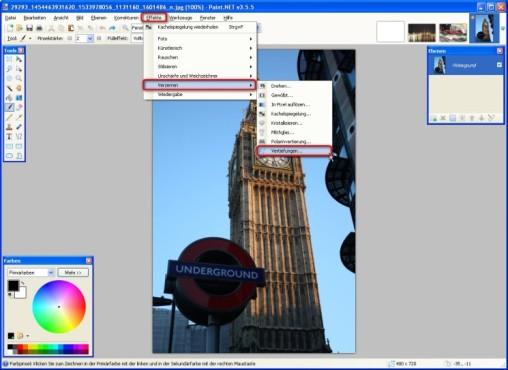 Paint.NET: Oberflächen eindellen