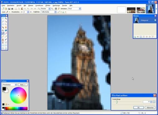 Paint.NET: Pixel einstellen