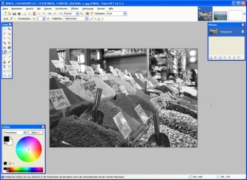 Paint.NET: Schwarzweiß-Aufnahme erzeugen