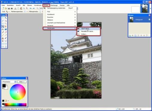 Paint.NET: Wiedergabe-Effekte verwenden