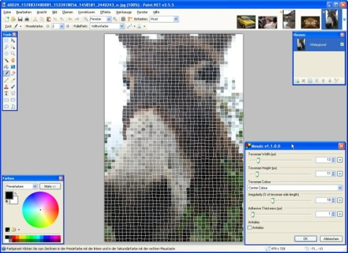 Paint.NET: Mosaic Effect: Mosaik optimieren