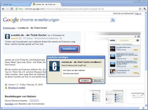 Google Chrome: Erweiterungen installieren