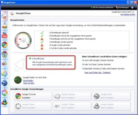 Google Chrome: Sicherheitseinstellungen mit Google Clean verwalten