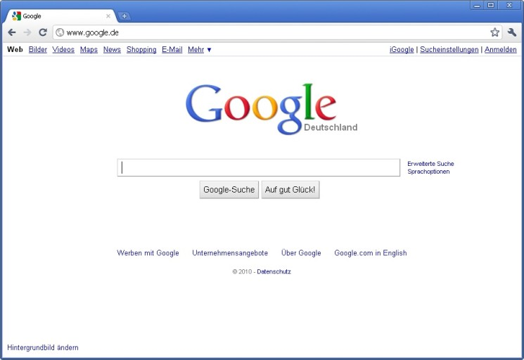 Google Chrome Ton Weg