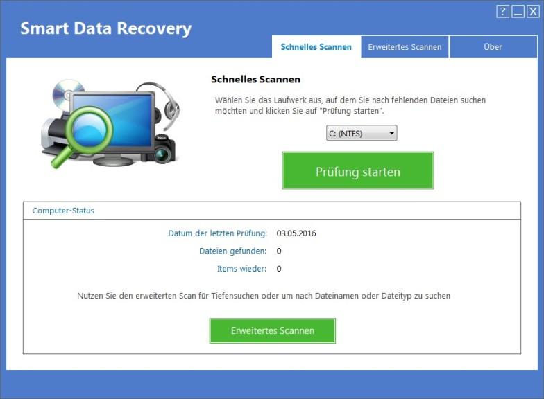 Screenshot 1 - Smart Data Recovery