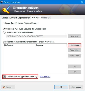 "KeePass 2: ""Auto-Type""-Verschleierung aktivieren ©COMPUTER BILD"
