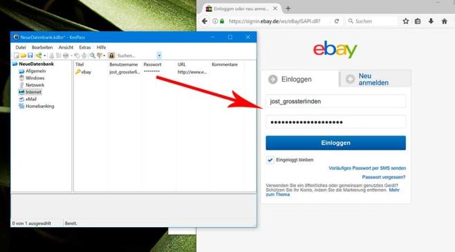 KeePass 2: Benutzername und Passwort automatisch einfügen ©COMPUTER BILD
