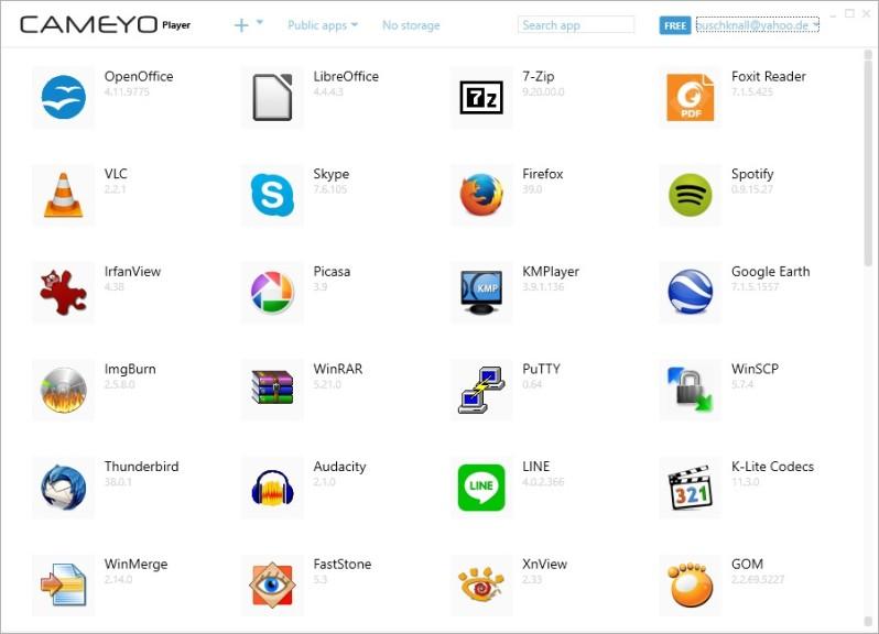 Screenshot 1 - Cameyo