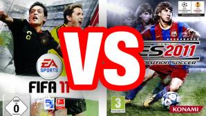 Fifa 11 gegen PES 2011: Vergleichstest