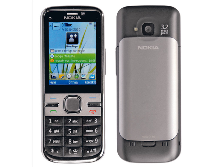 Nokia C5 Smartphone ohne Touchscreen im Test