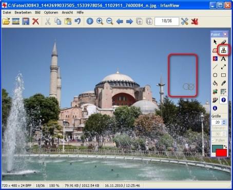 IrfanView: Bildteile kopieren und übermalen