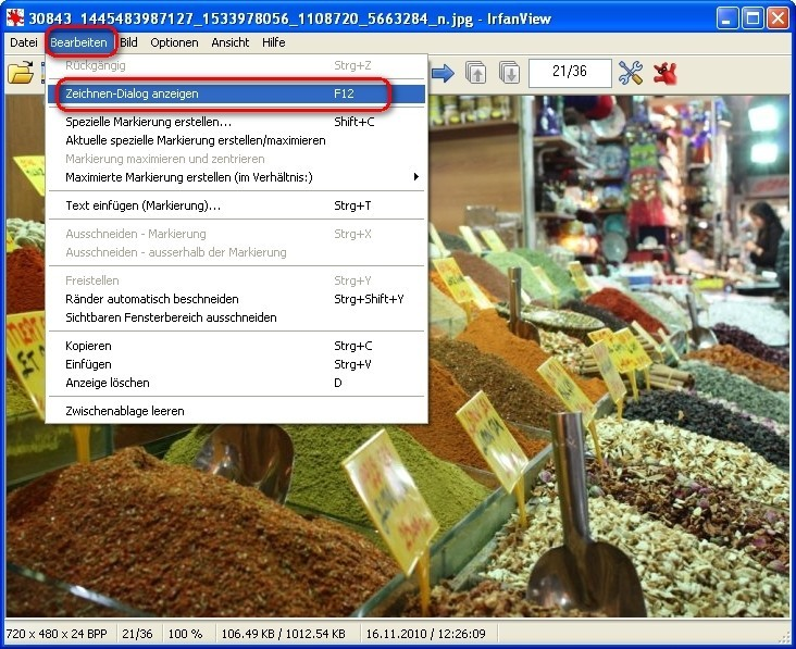 irfanview fotos retuschieren und mit effekten versch nern bilder screenshots computer bild. Black Bedroom Furniture Sets. Home Design Ideas