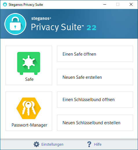 Screenshot 1 - Steganos Privacy Suite